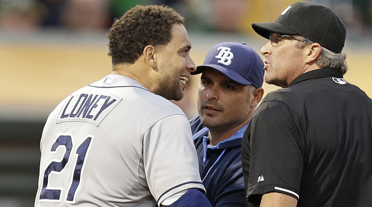 tampa bay rays james loney mlb suspension