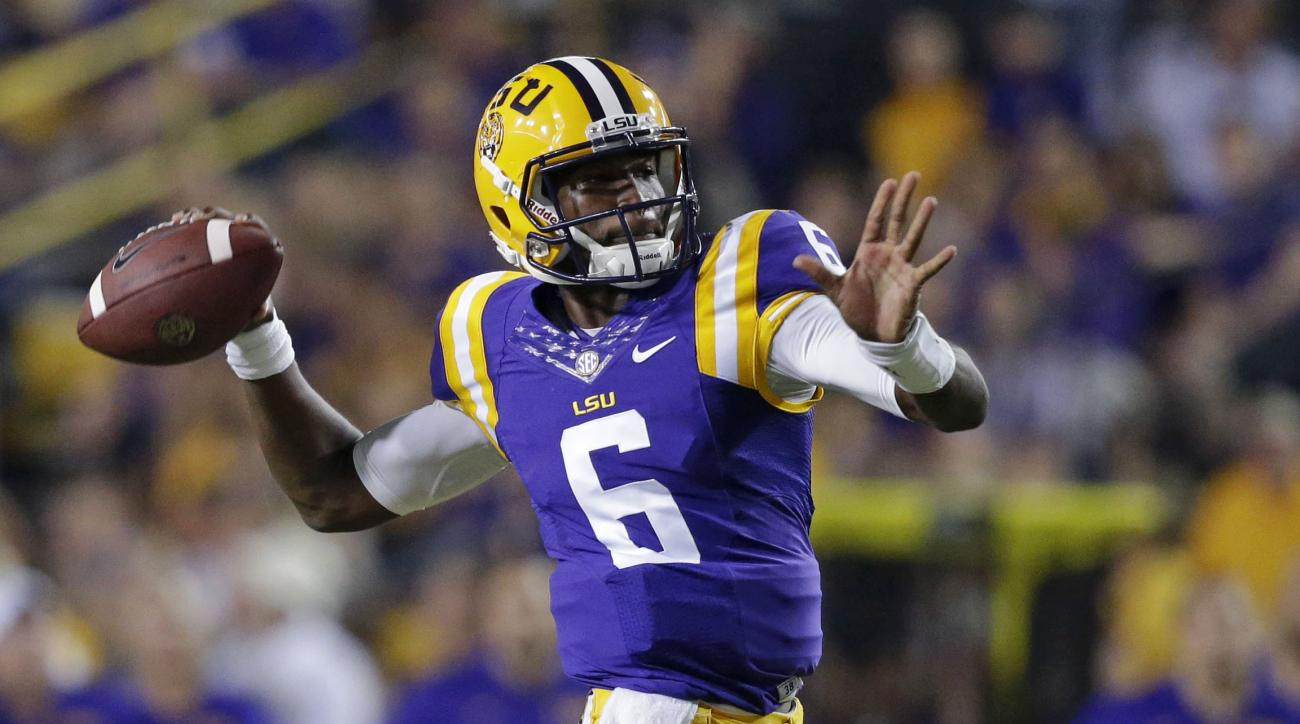 LSU's Les Miles names Brandon Harris leader in QB compeition