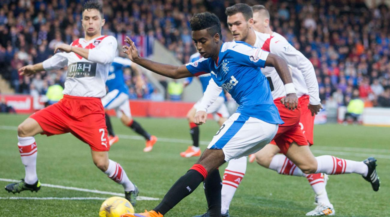 Gedion Zelalem made his Rangers debut in the Scottish League Cup