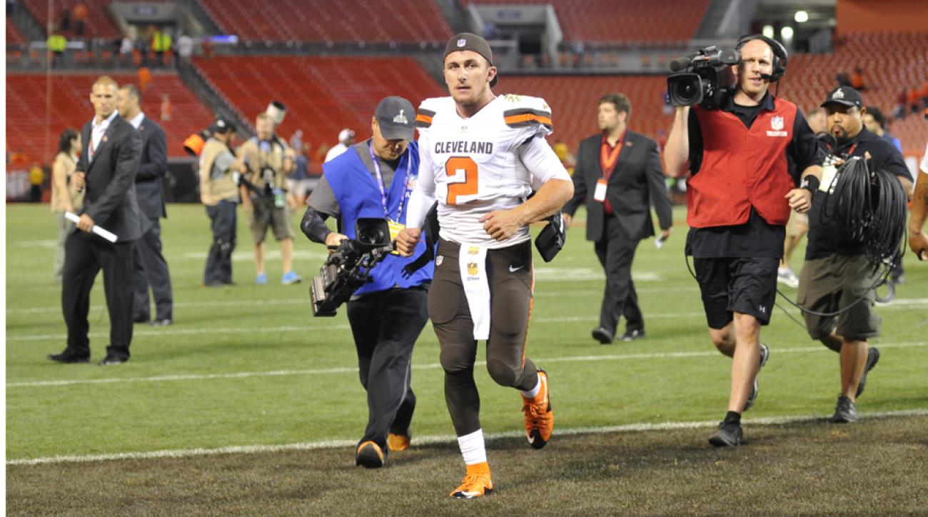 johnny manziel injury cleveland browns
