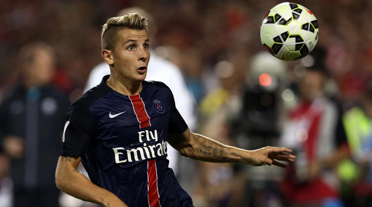 Lucas Digne heads to Roma on loan from PSG