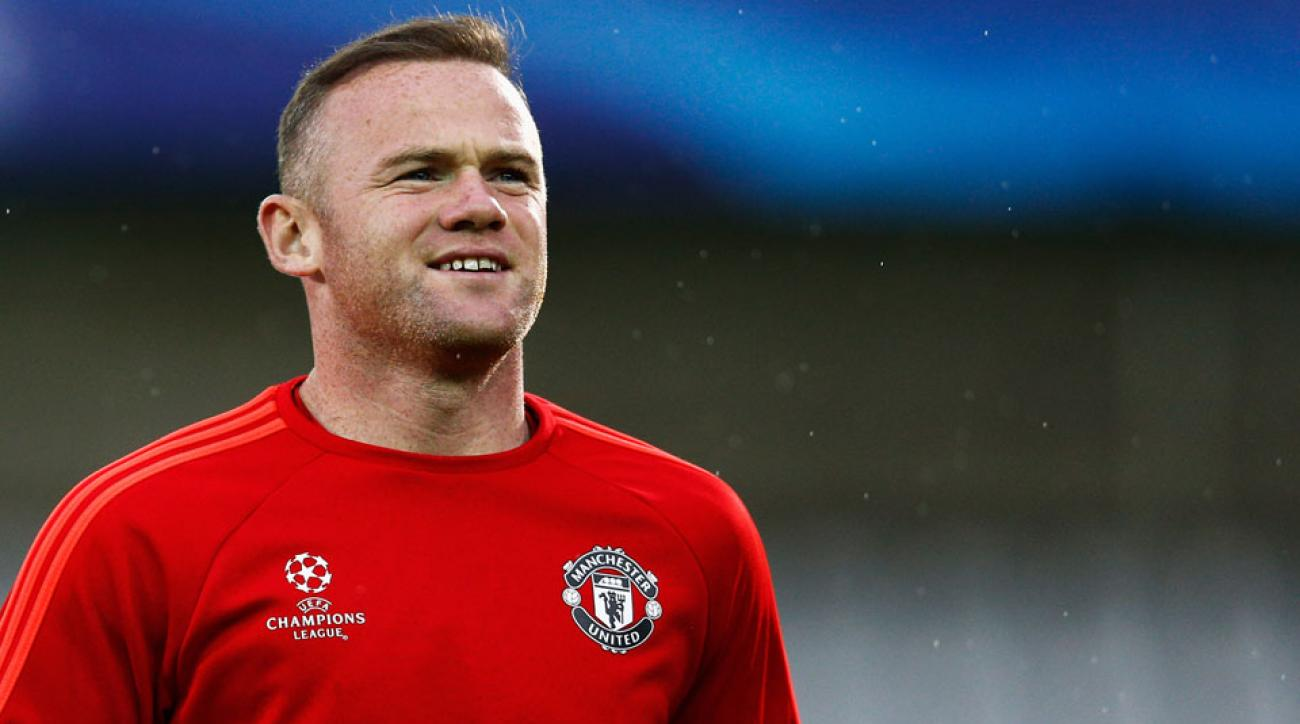 Wayne Rooney scored for Manchester United against Club Brugge in the Champions League playoff round