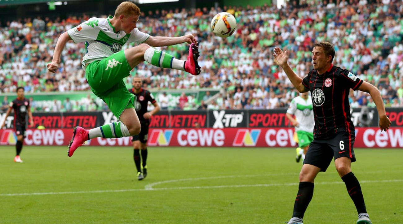 Kevin De Bruyne joins Manchester City in a lucrative transfer from Wolfsburg
