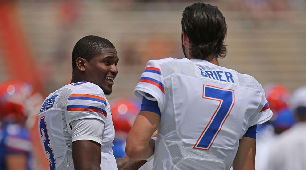 florida gators quarterback will grier treon harris