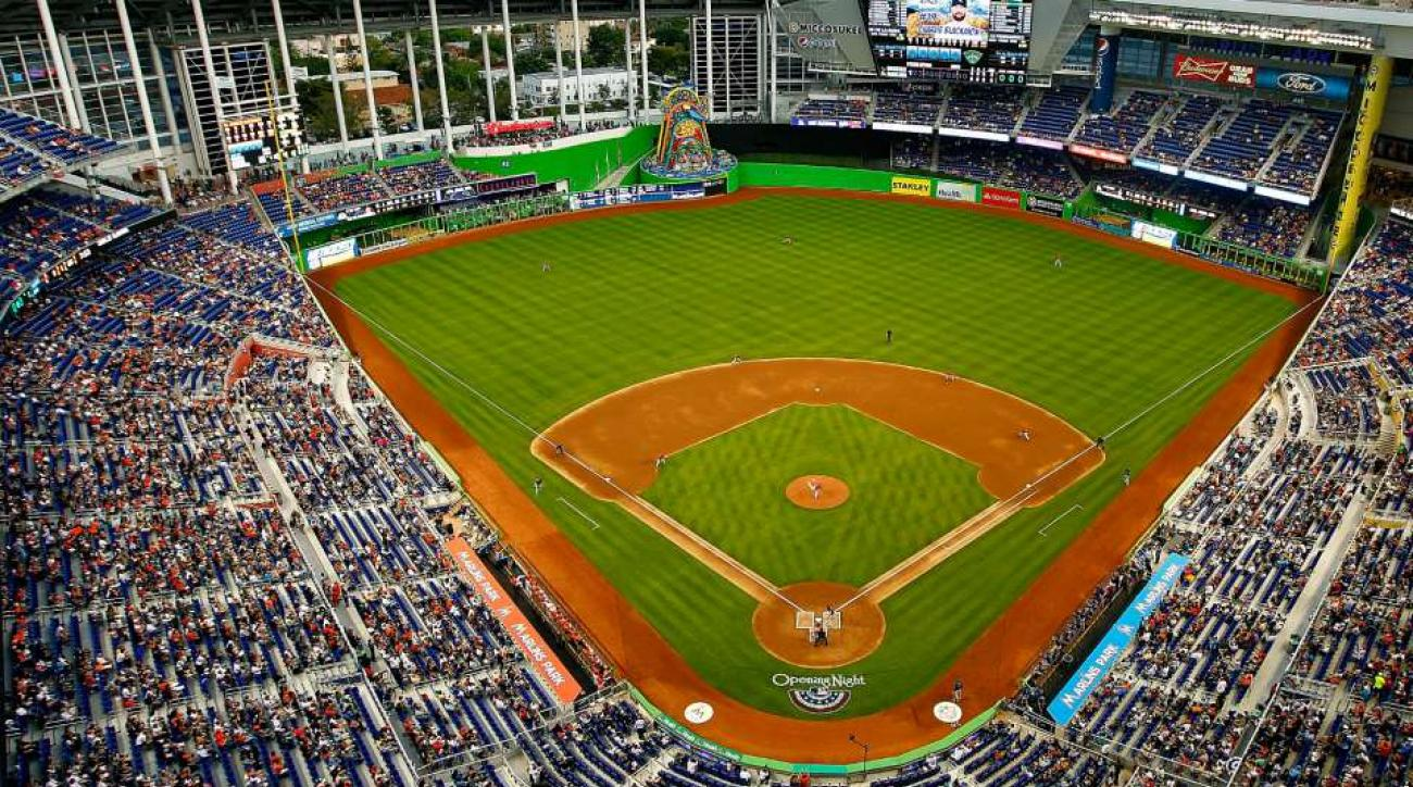 Marlins Park outfield change