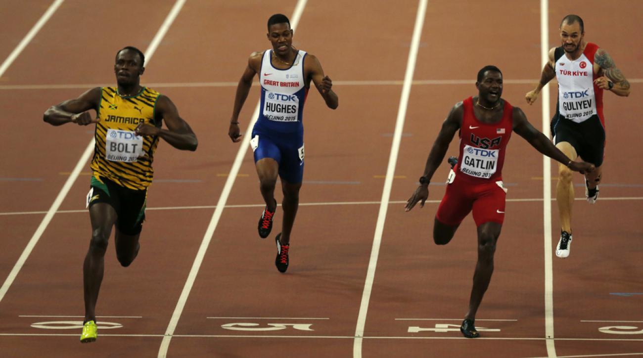 usain bolt beijing 2015 world championship gold 200-meters justin gatlin watch