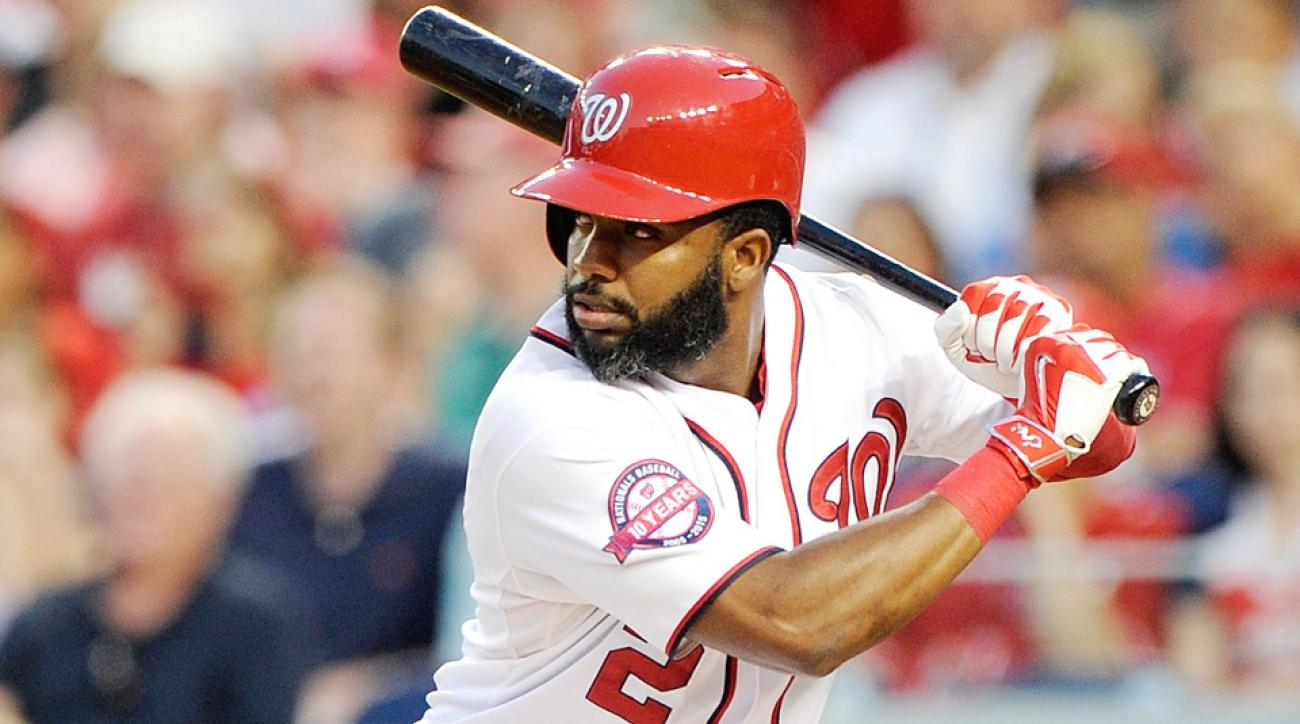 Washington Nationals' Denard Span is out for the season with a hip injury.
