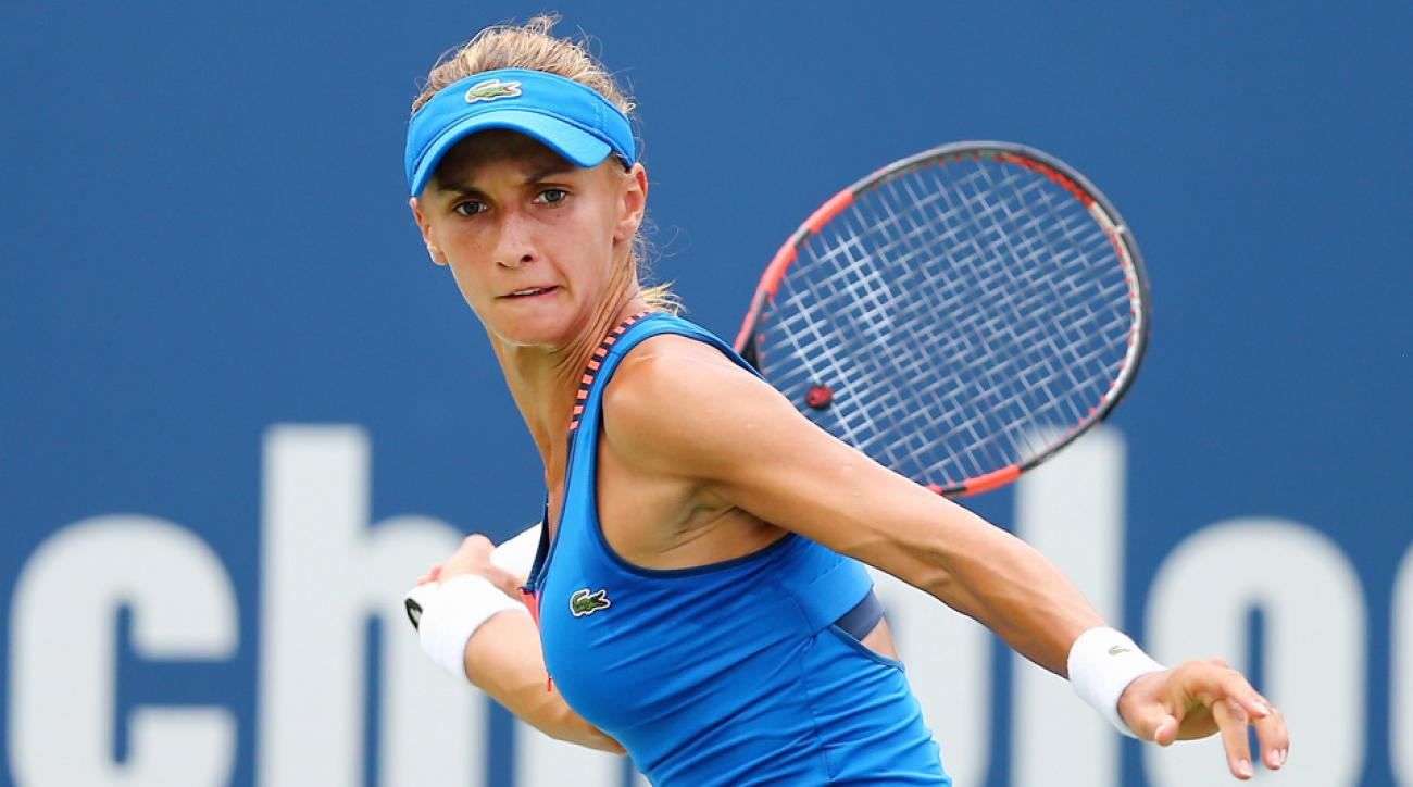 Lesia Tsurenko advanced to the Connecticut Open semifinals on Thursday.