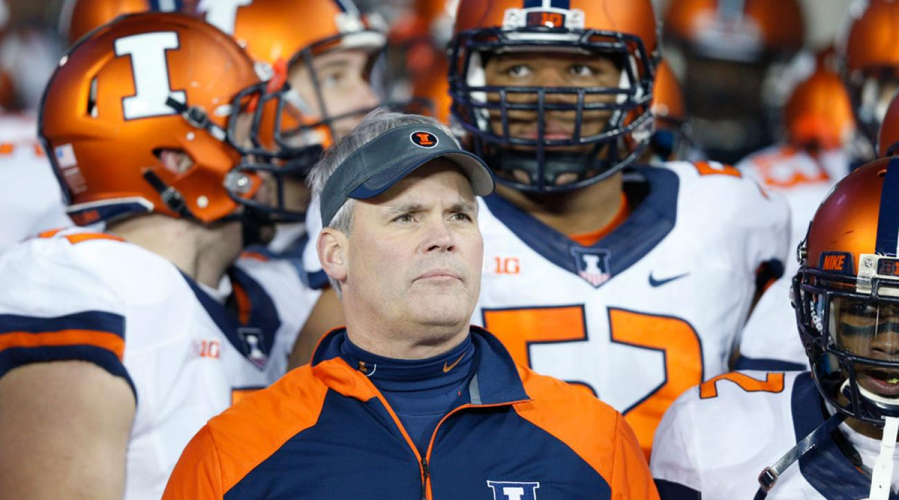 illinois football tim beckman fired
