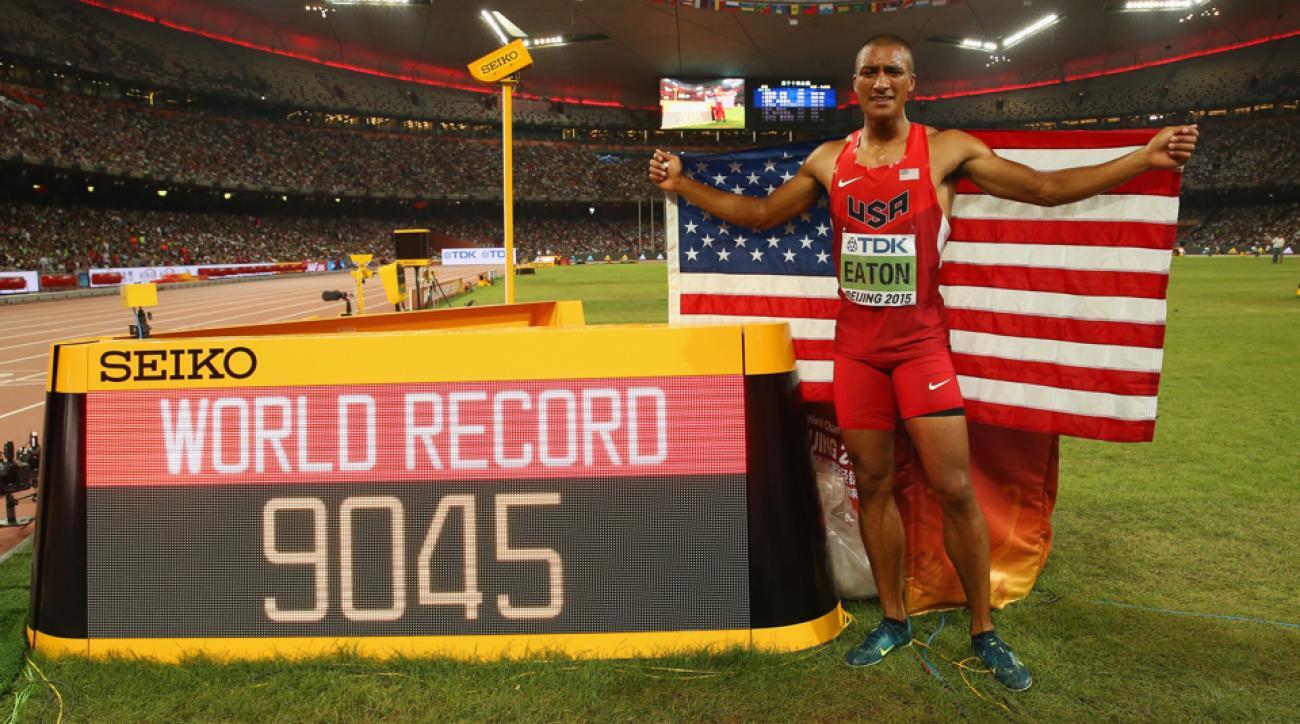 Ashton Eaton decathlon world record 2015 world championships beijing 2015