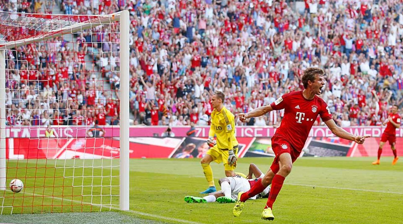 Thomas Muller Bayern Munich vs. Bayer Leverkusen