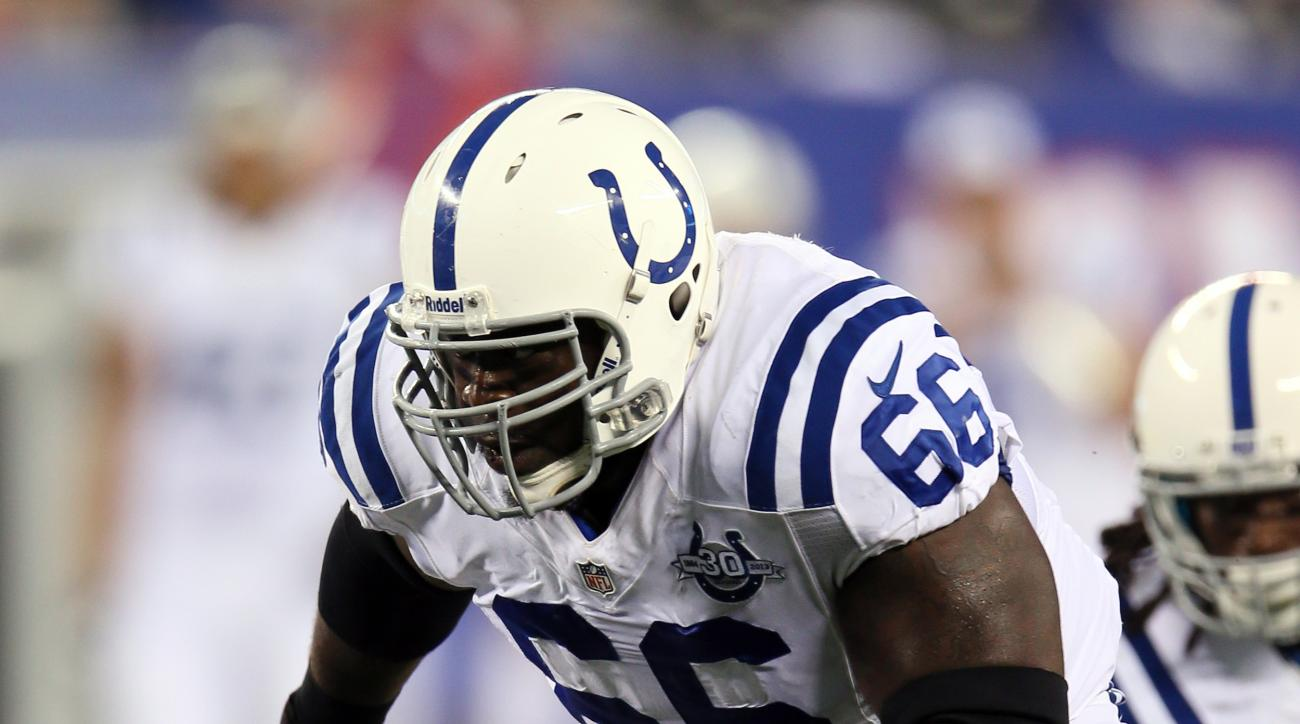 Indianapolis Colts cut offensive guard Donald Thomas