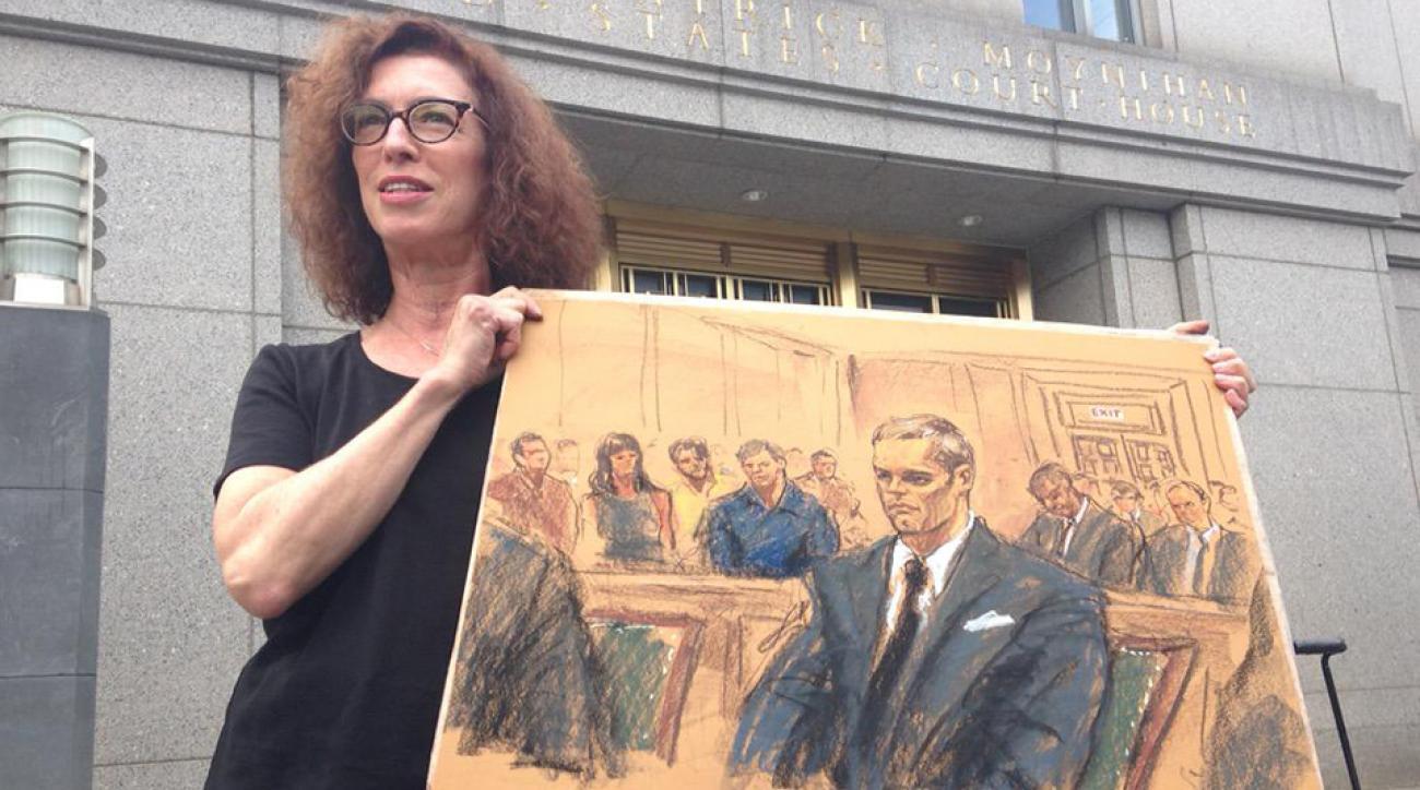 tom brady courtroom sketch drawing