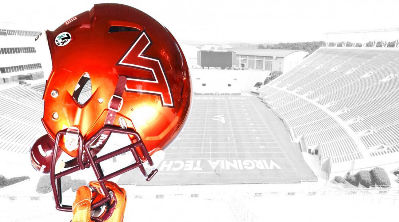 virginia tech football helmet decals honor shooting victims