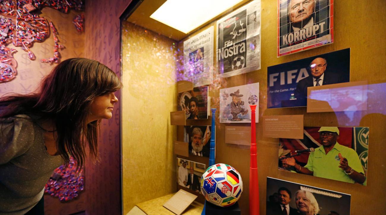 FIFA exhibit at the Mob Museum in Las Vegas