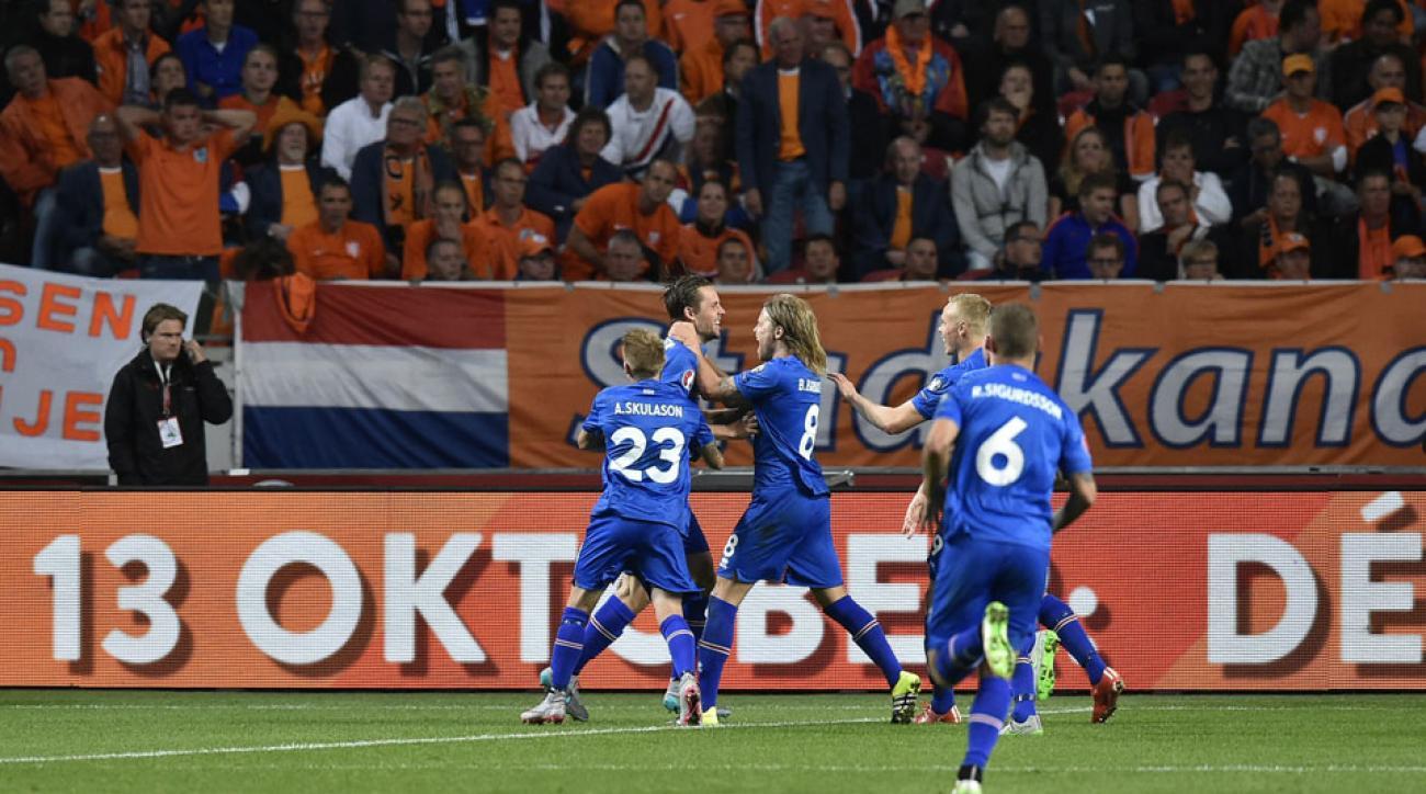 Iceland beats Netherlands in Euro 2016 qualifying