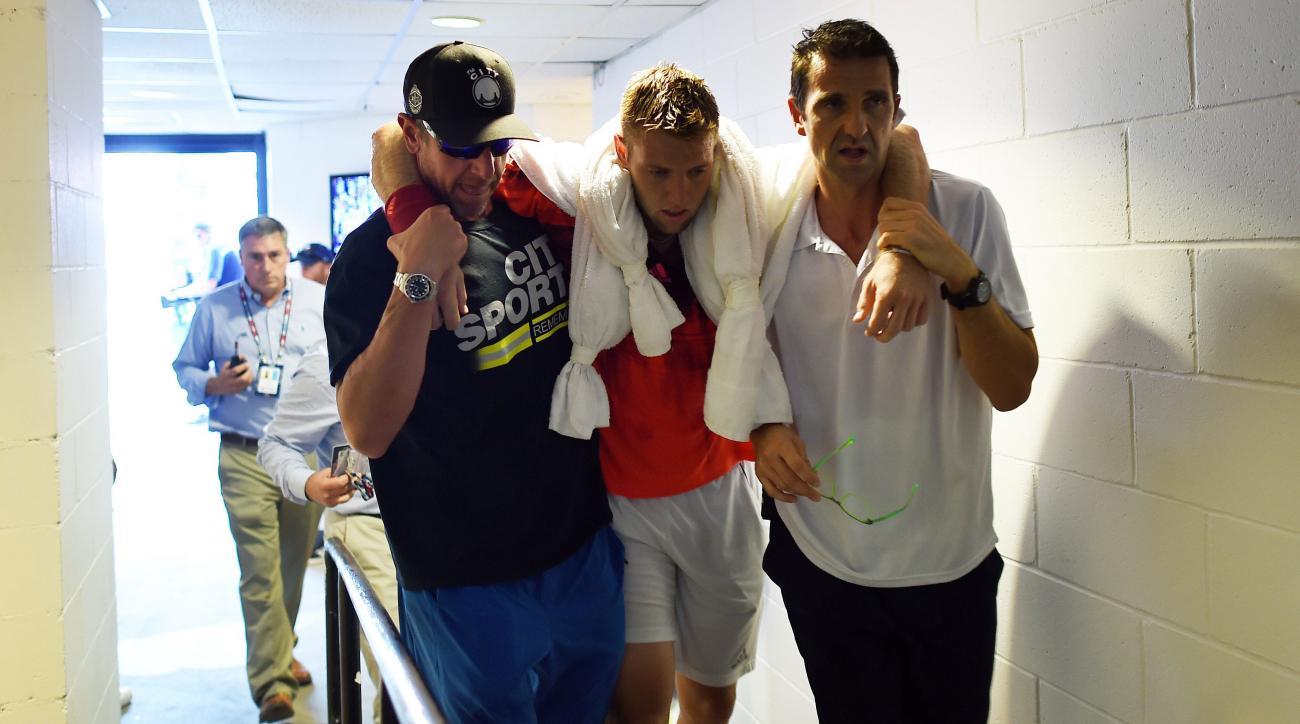 jack sock us open tennis faints retires