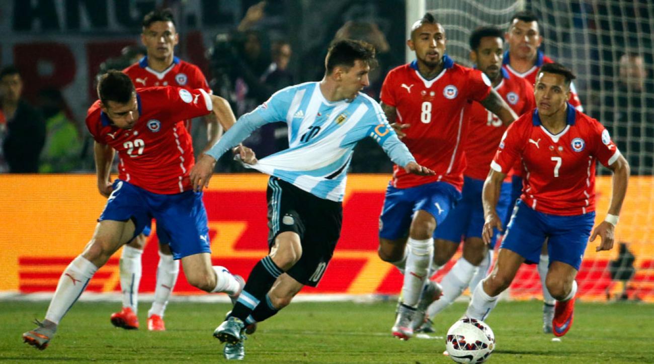 Lionel Messi's Argentina vs. Chile in Copa America
