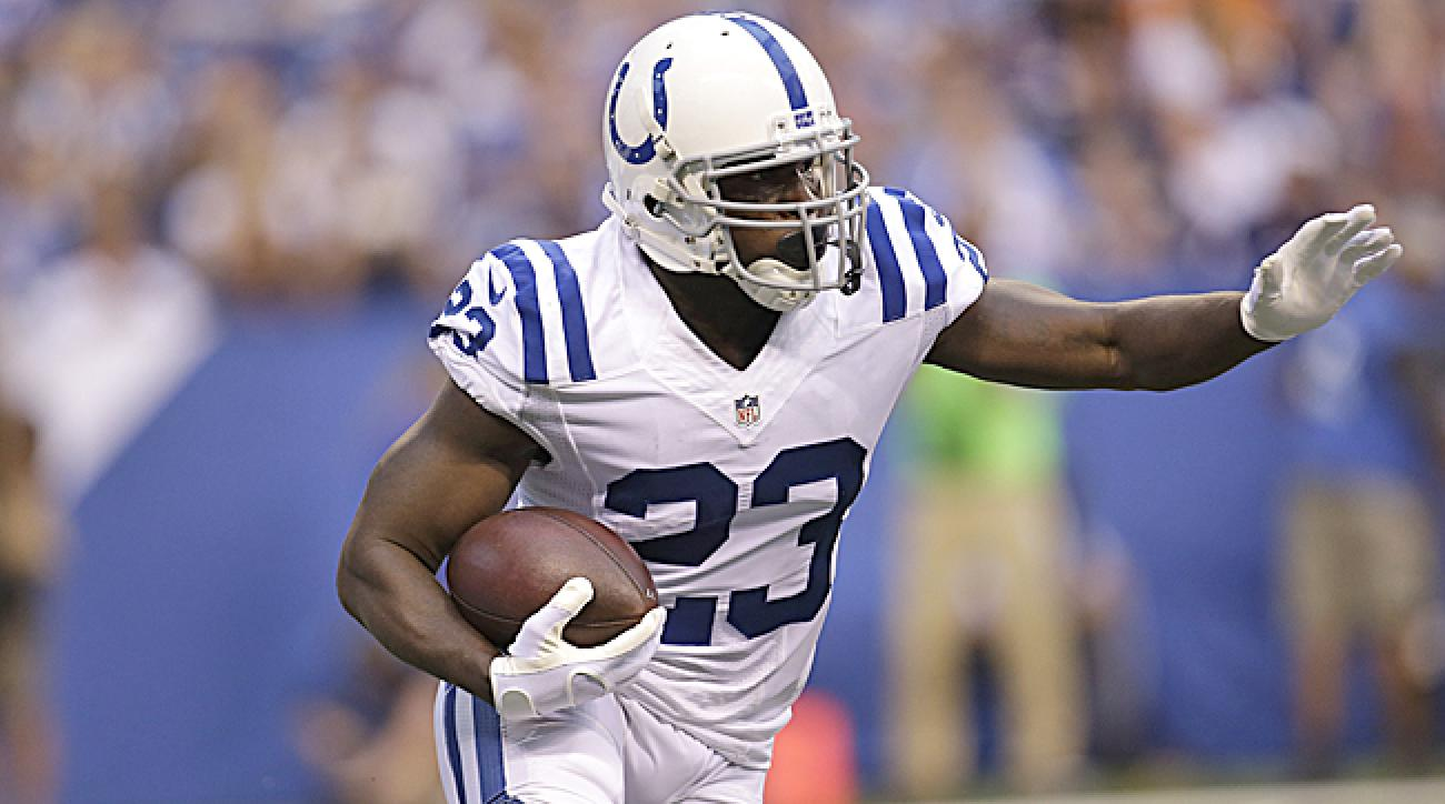 The 32-year-old Gore might find yards tougher to come by running behind a weak Indy front five. (AJ Mast/AP)