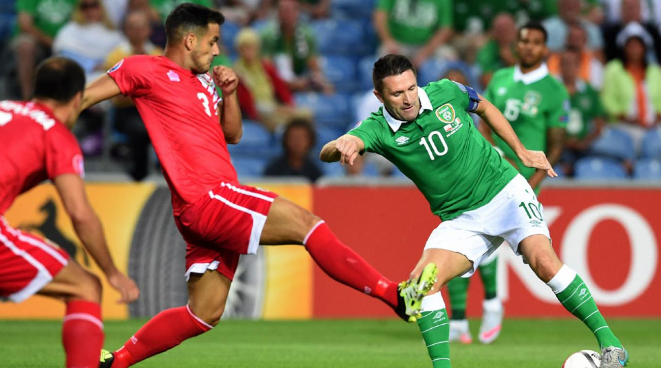 Robbie Keane scores vs. Gibraltar for Ireland