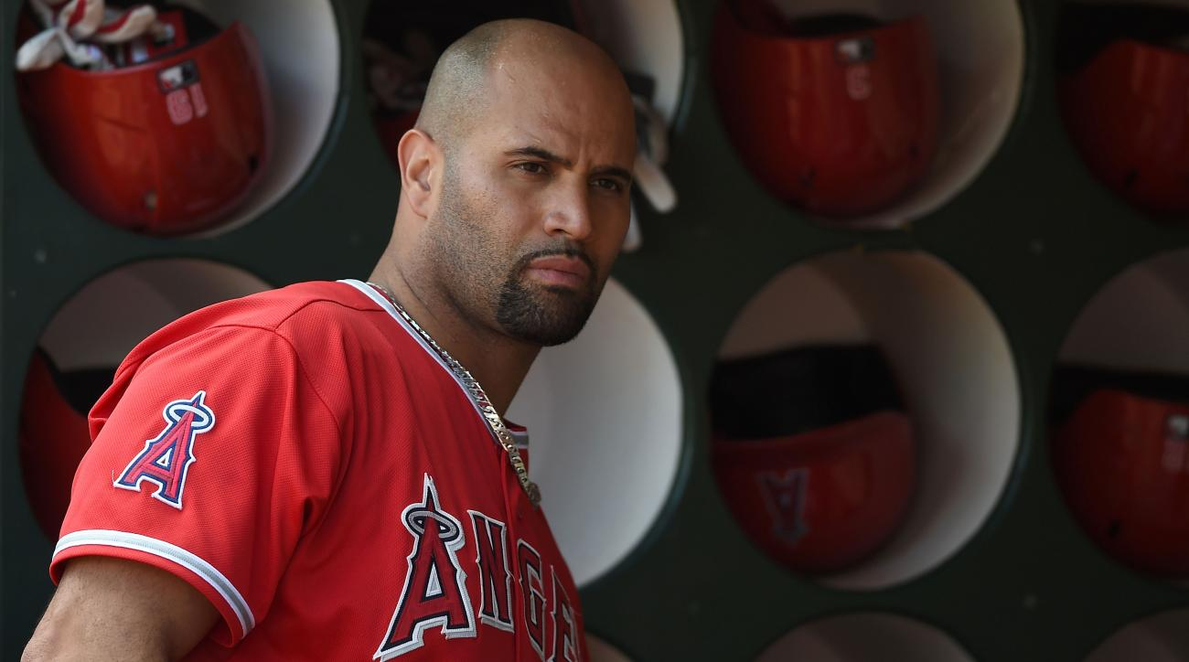 angels albert pujols dh sore foot injury