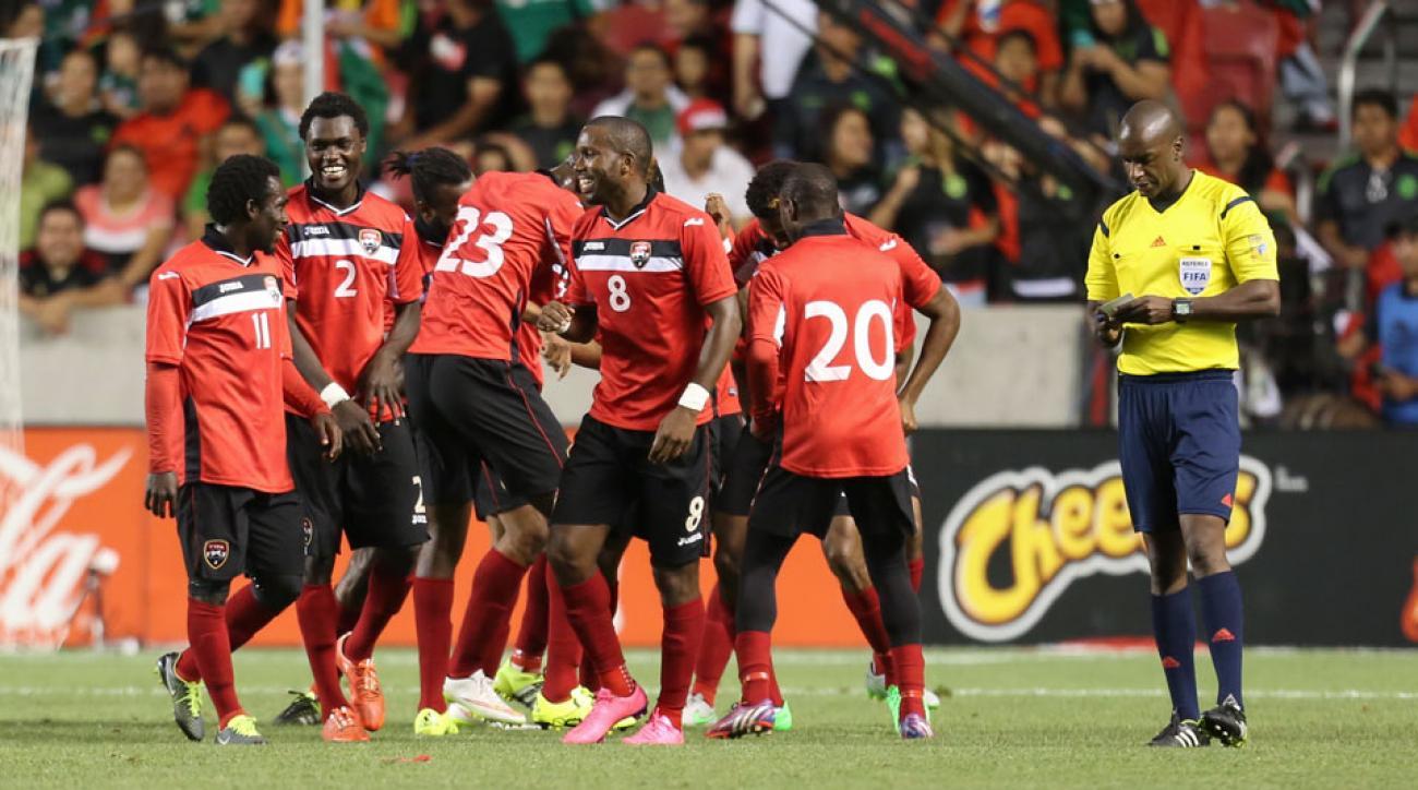 Trinidad and Tobago celebrates Joevin Jones's goal vs. Mexico in their 3-3 draw