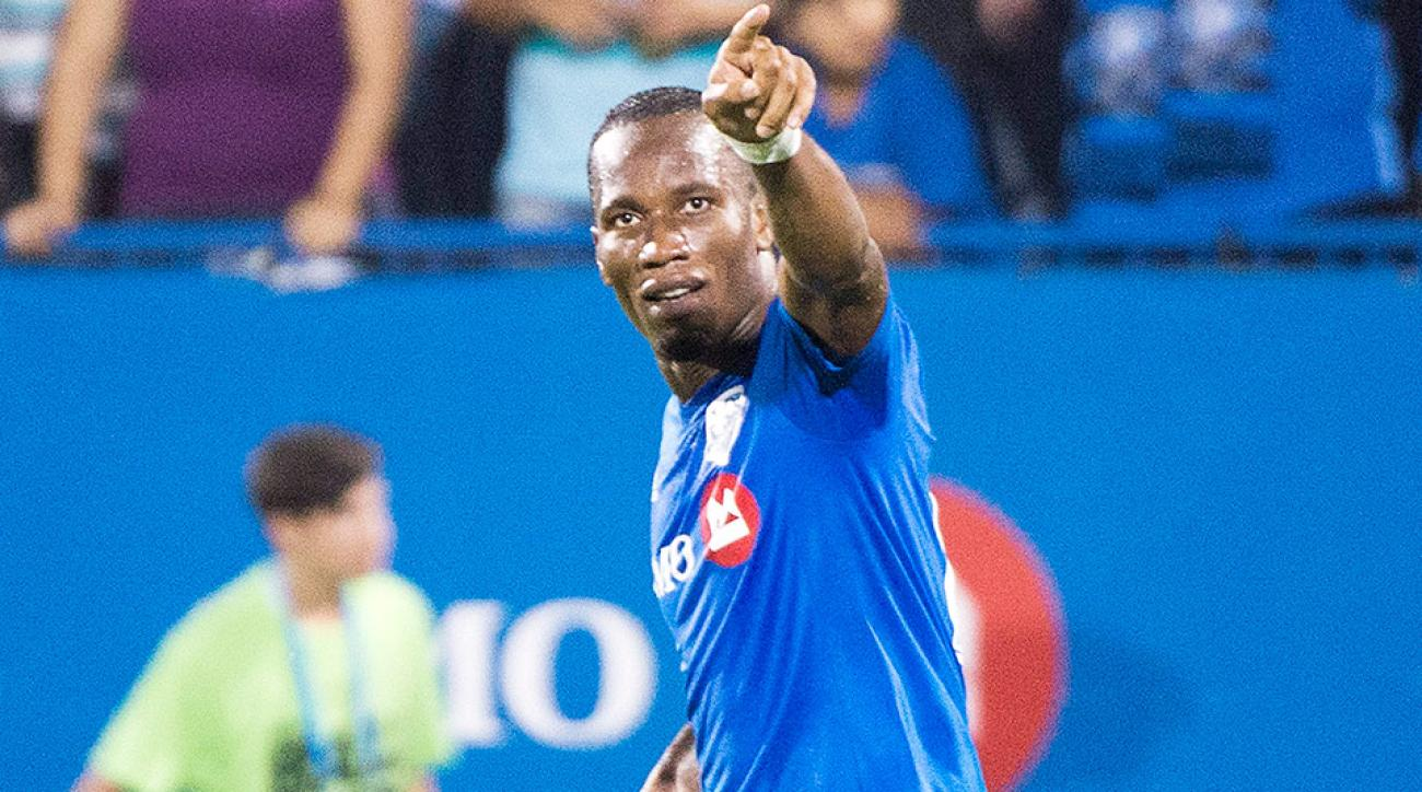 Didier Drogba scored a hat trick in his second game with the Montreal Impact.