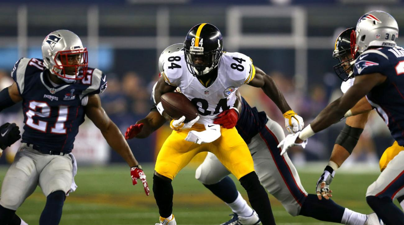 pittsburgh steelers antonio brown catch new england patriots