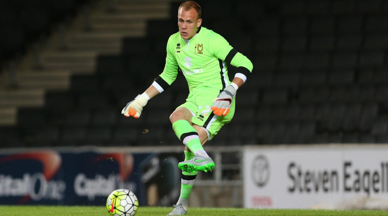 USA, Milton Keynes Dons goalkeeper Cody Cropper