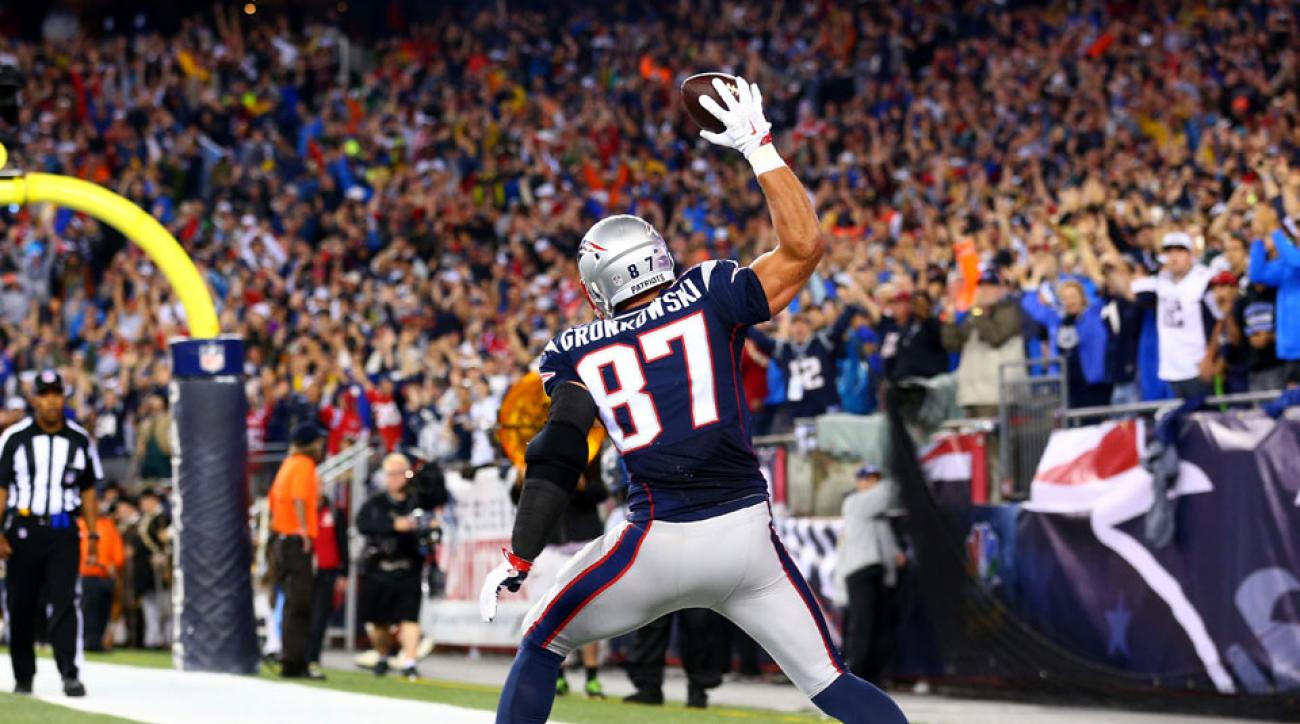 new england patriots rob gronkowski touchdown pittsburgh steelers