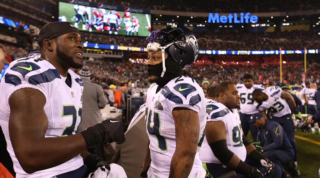 seahawks kam chancellor marshawn lynch holdout jersey