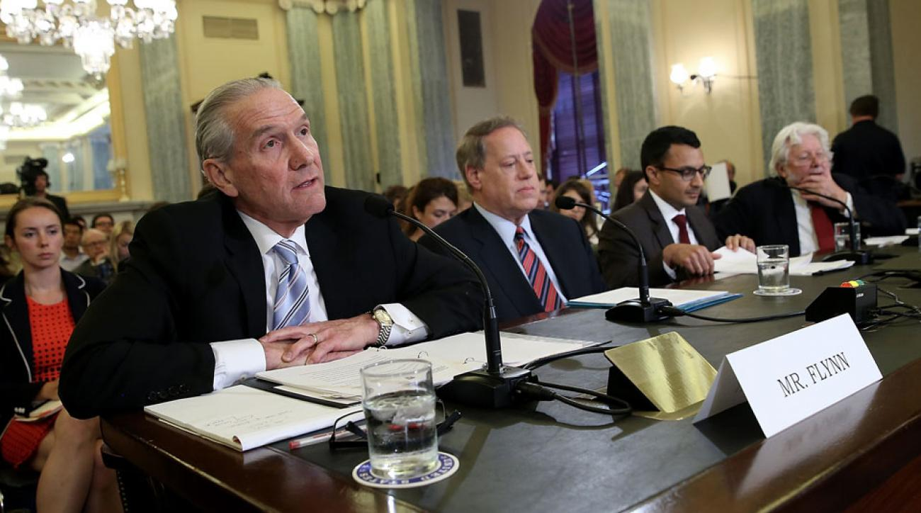 U.S. Soccer CEO Dan Flynn at a U.S. Senate hearing