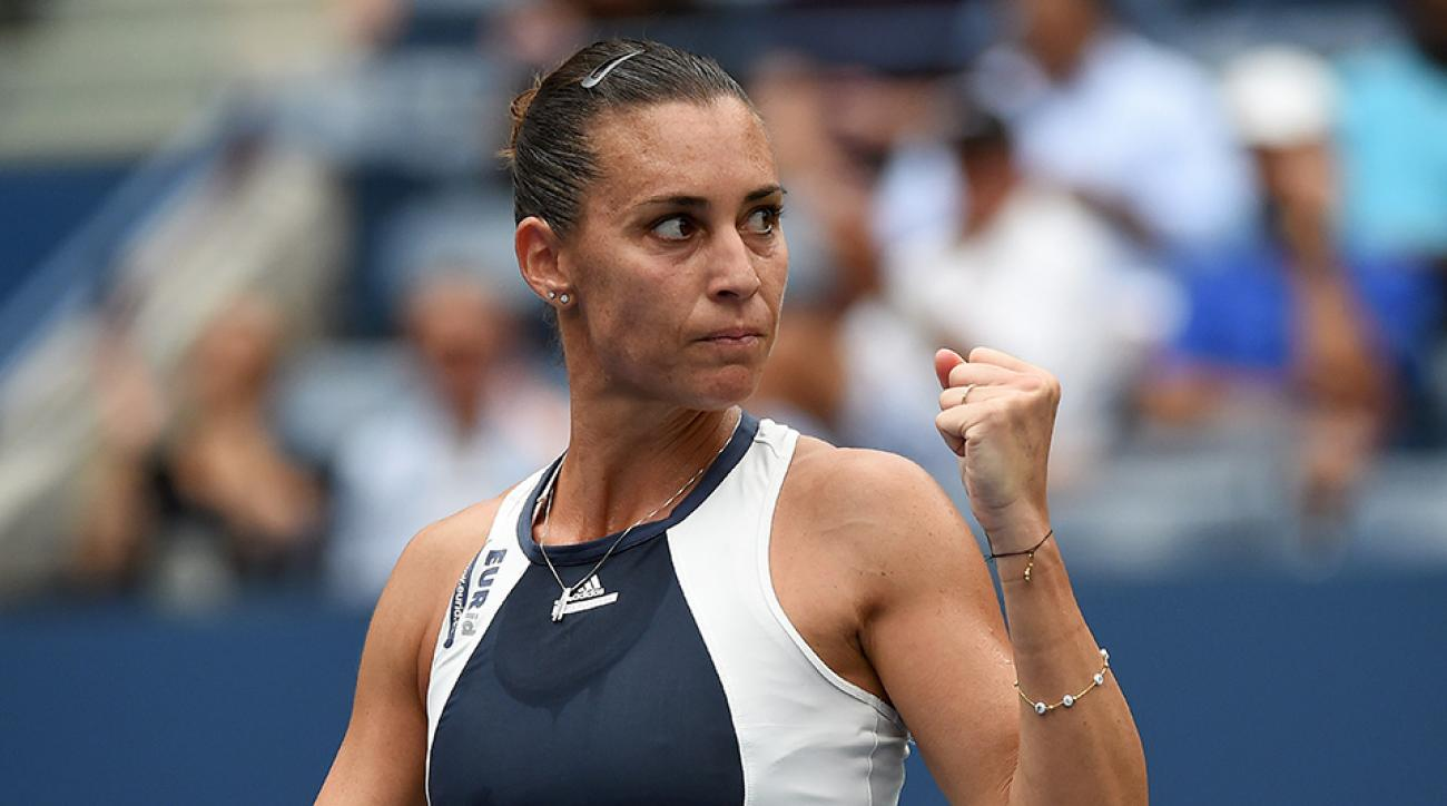 flavia pennetta simona halep us open semifinals serena williams