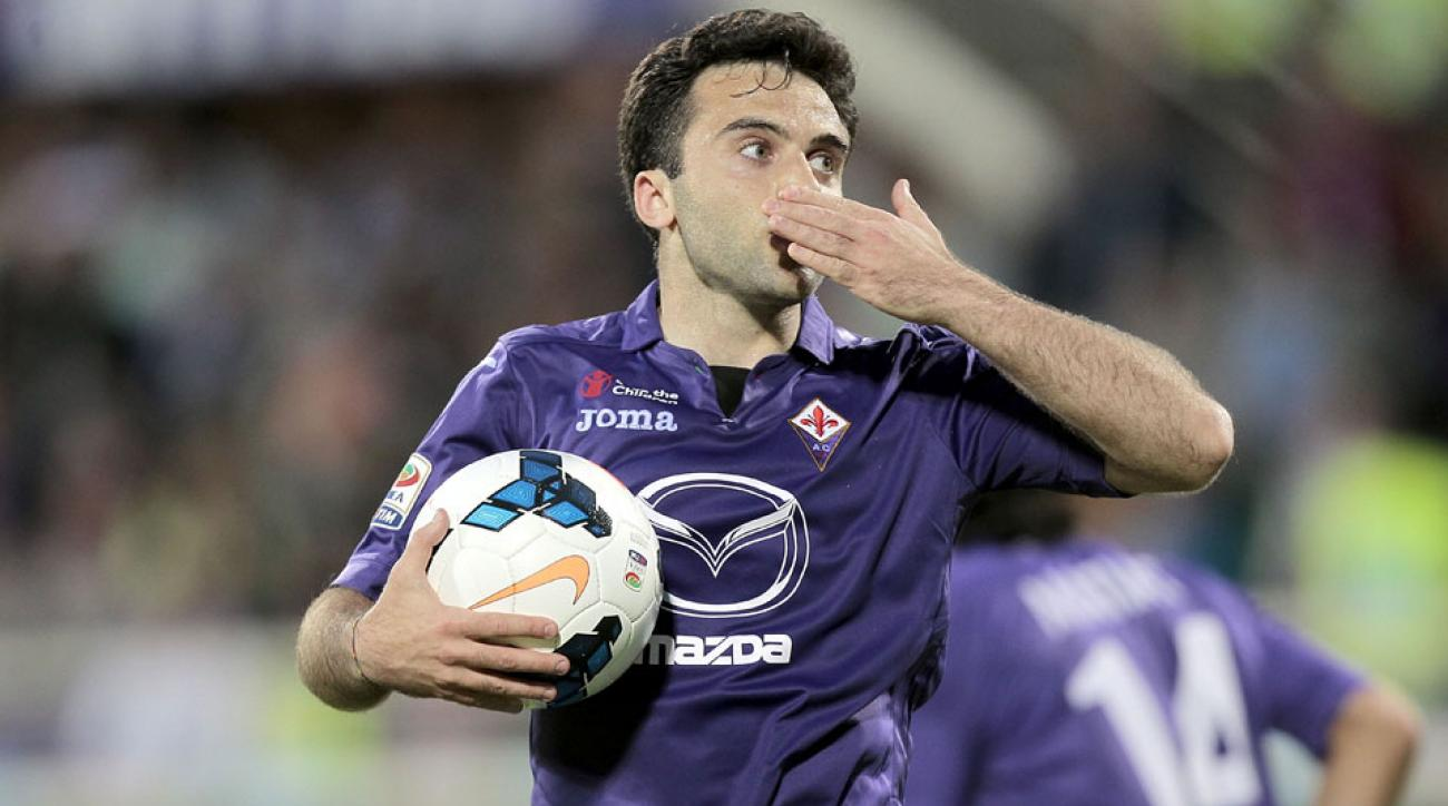 Giuseppe Rossi has taken a pay cut at Fiorentina