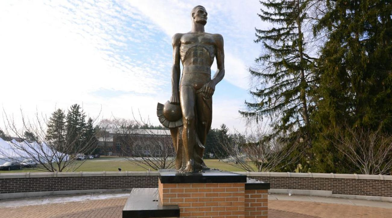 spartan-stadium-statue-vandalized