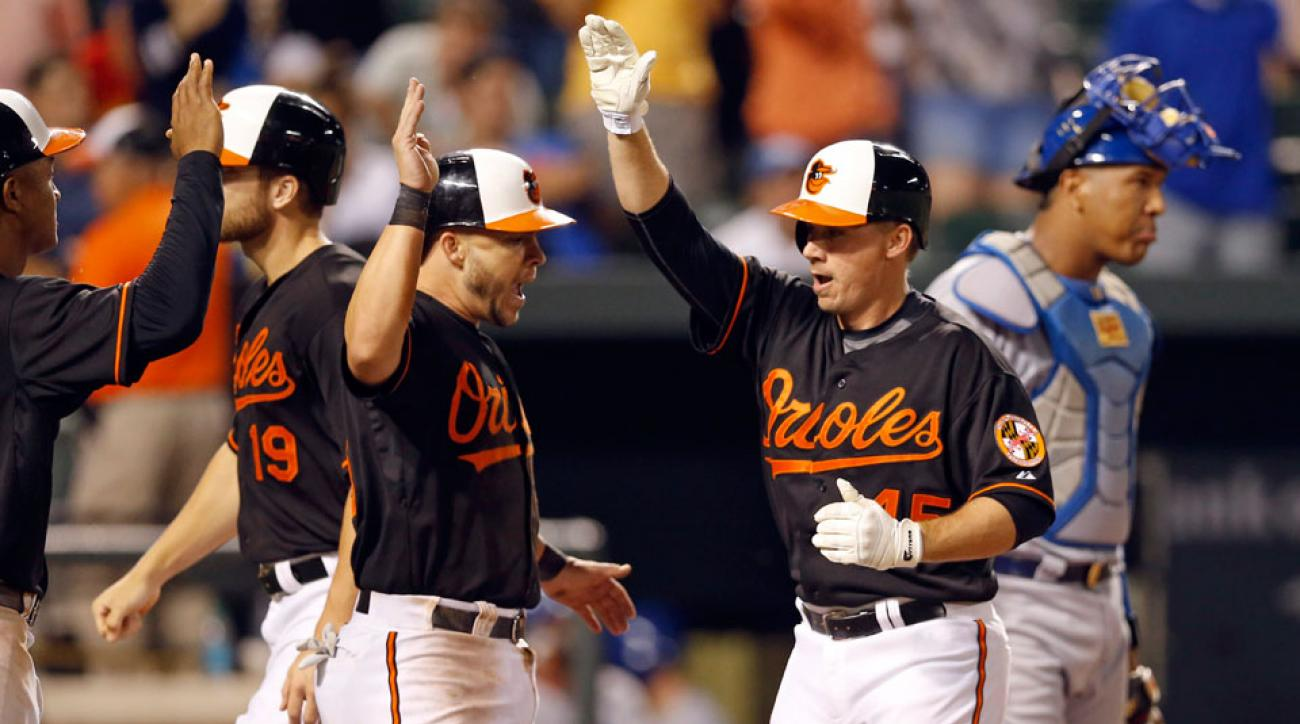 steve clevenger baltimore orioles grand slam