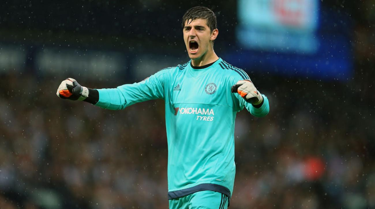 Chelsea's Thibaut Courtois will be out for a while after knee surgery