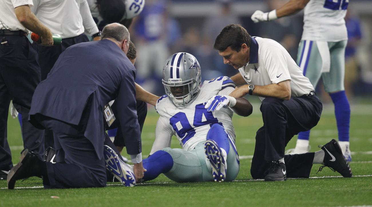 dallas cowboys randy gregory ankle sprain injury