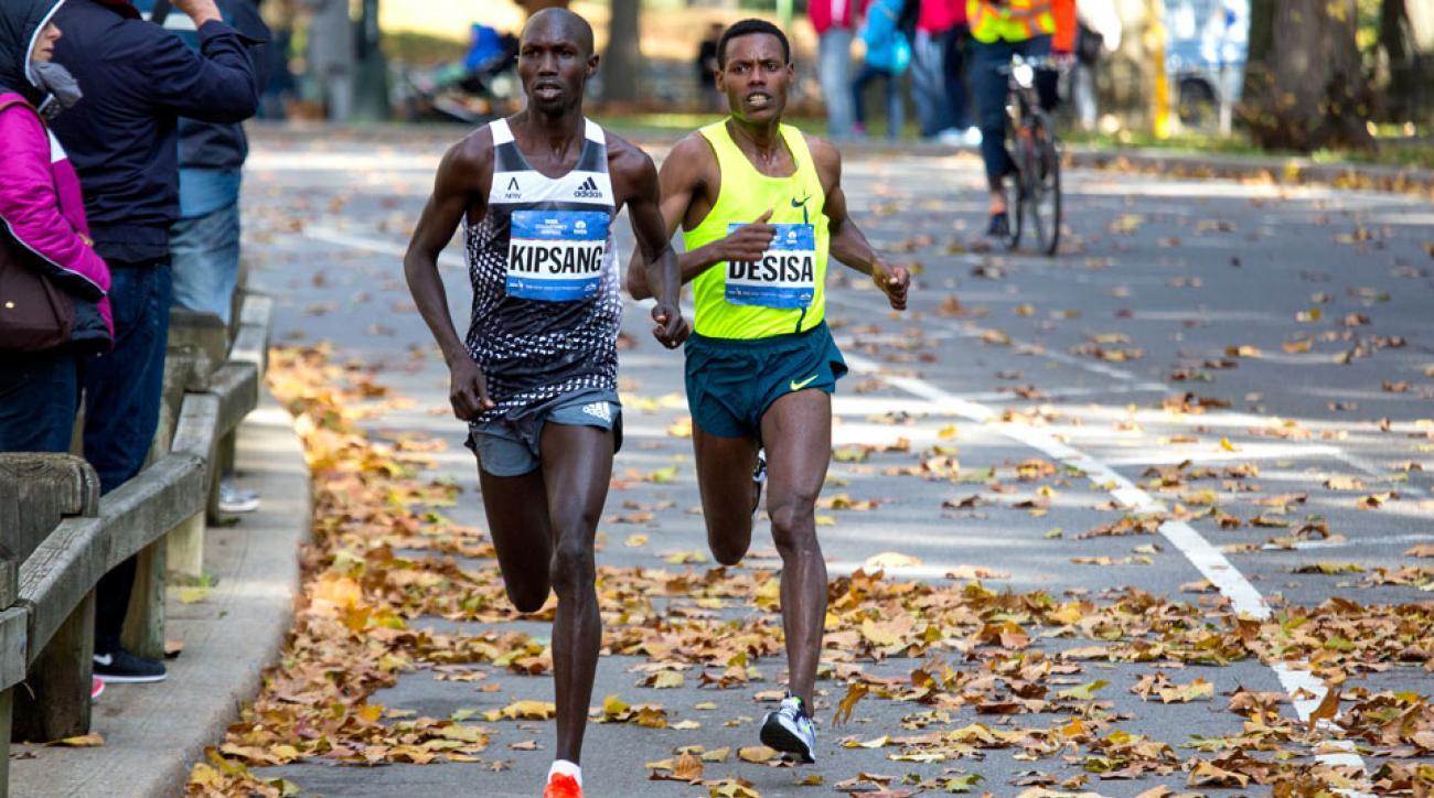 wilson kipsang lelisa desisa 2015 new york city marathon elite men