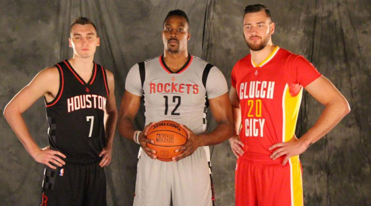 7526a972 The Houston Rockets unveiled three new alternate jerseys .