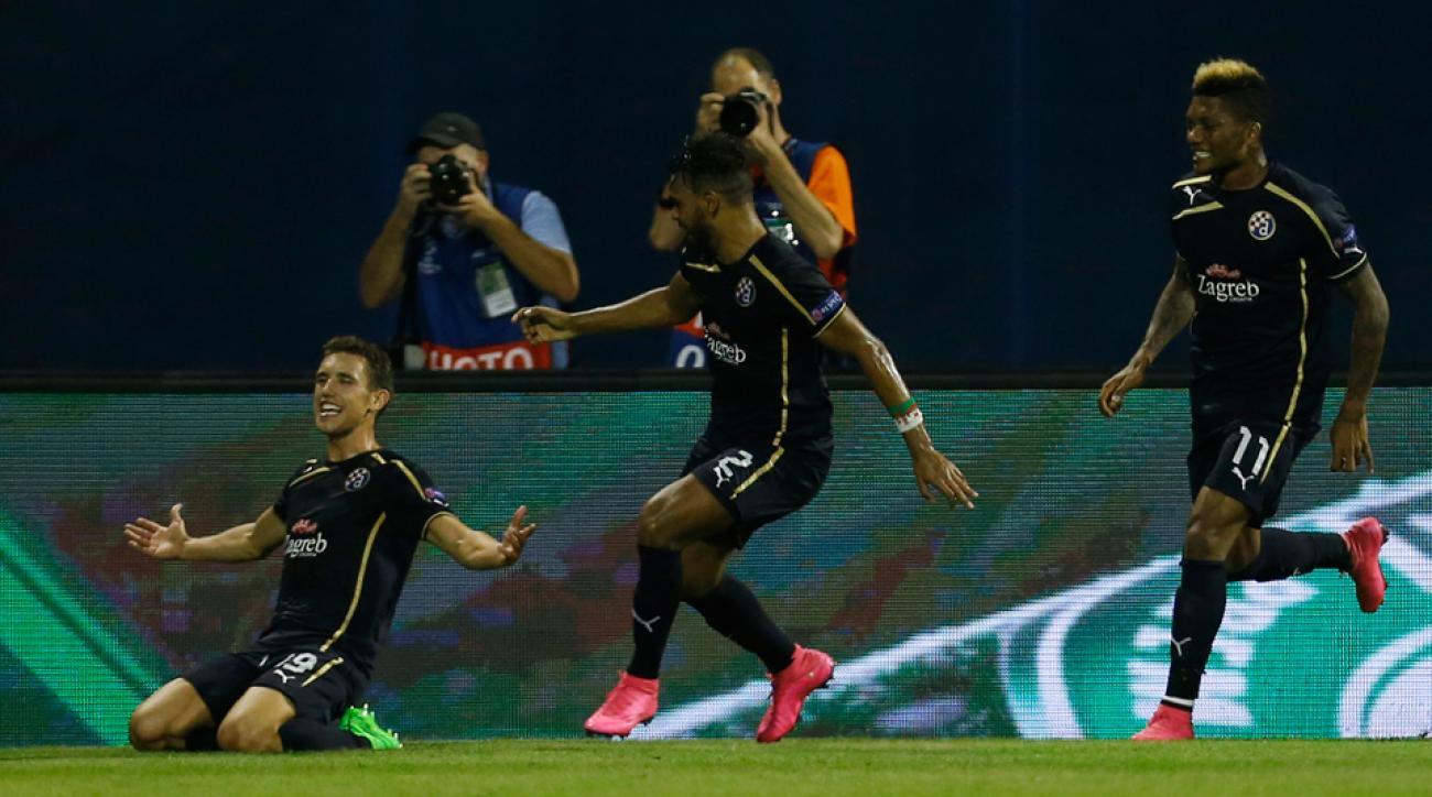 Dinamo Zagreb beat Arsenal 2-1 in Champions League