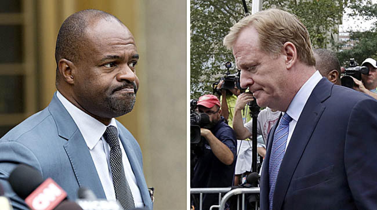 DeMaurice Smith and Roger Goodell. (Mark Lennihan/AP; Richard Drew/AP)