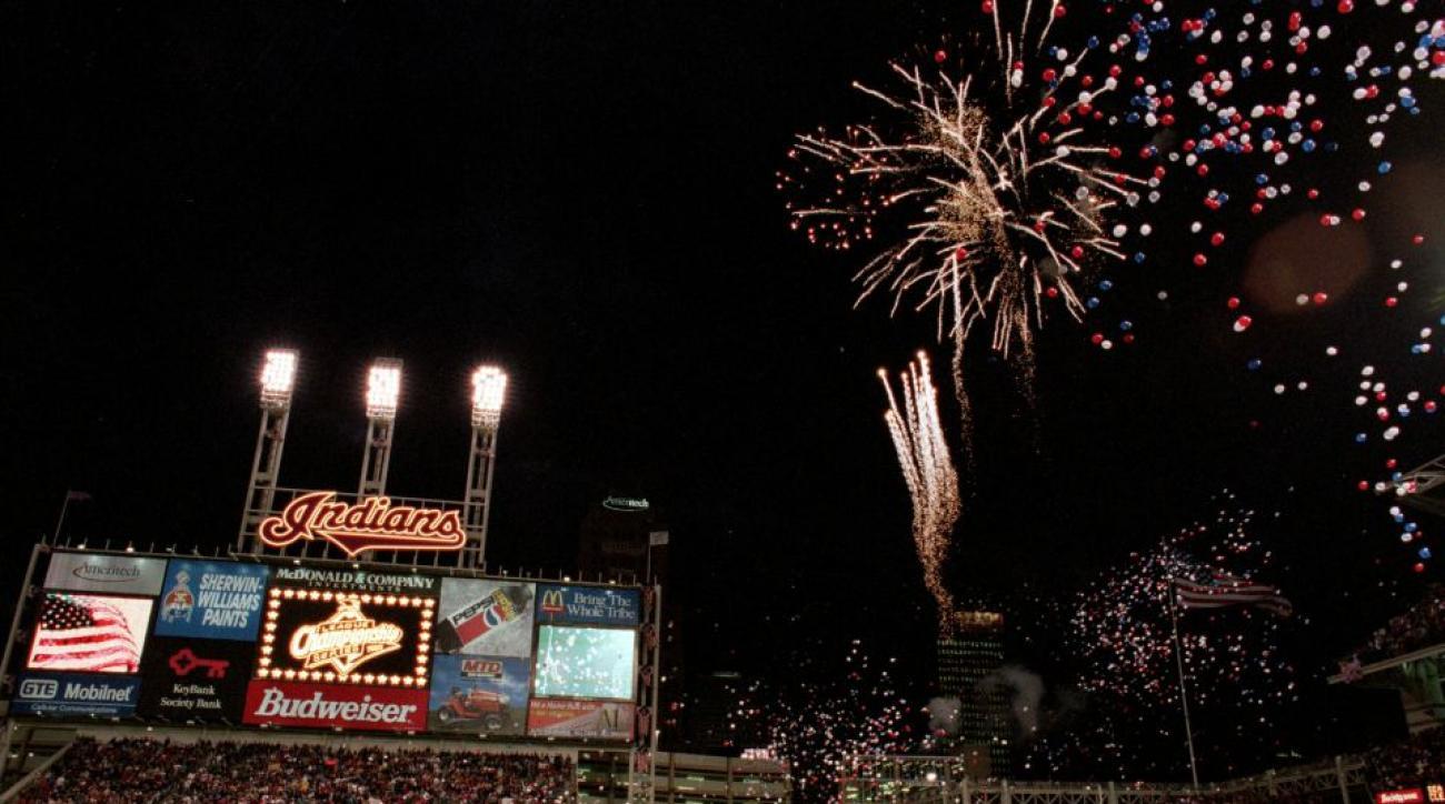 Indians set off fireworks for Royals home run