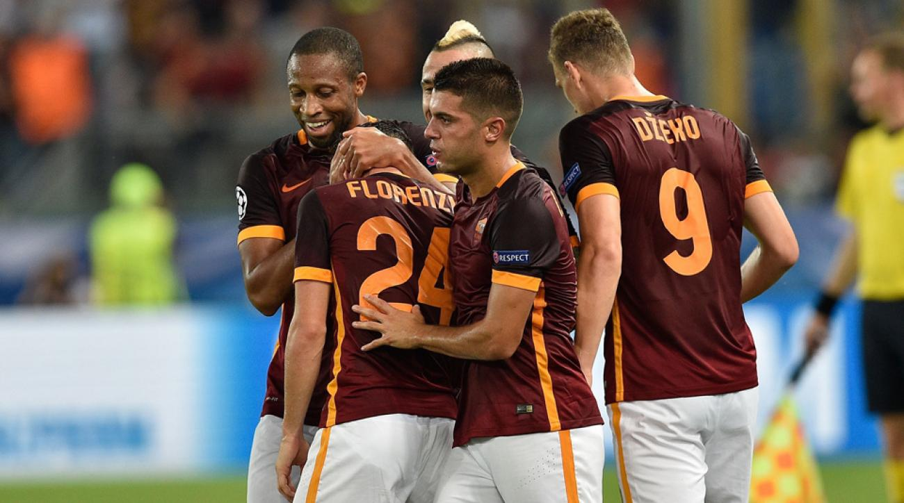 Roma ties Barcelona 1-1 in Champions League