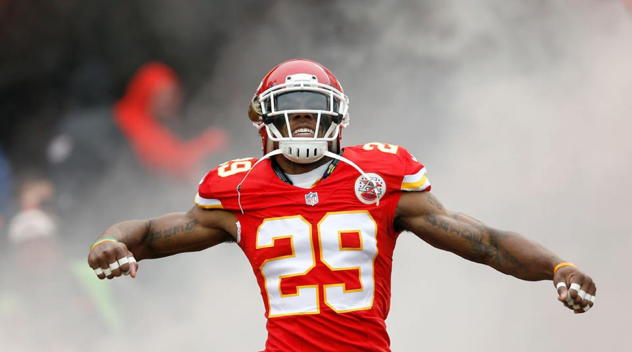 Chiefs safety Eric Berry coming out of the tunnel before a game against the Seahawks at Arrowhead Stadium on Nov. 16, 2014.