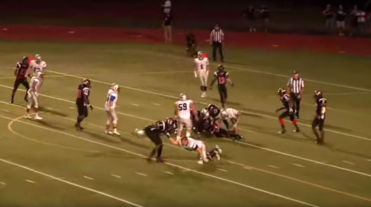 helmet swing high school football linden immaculata