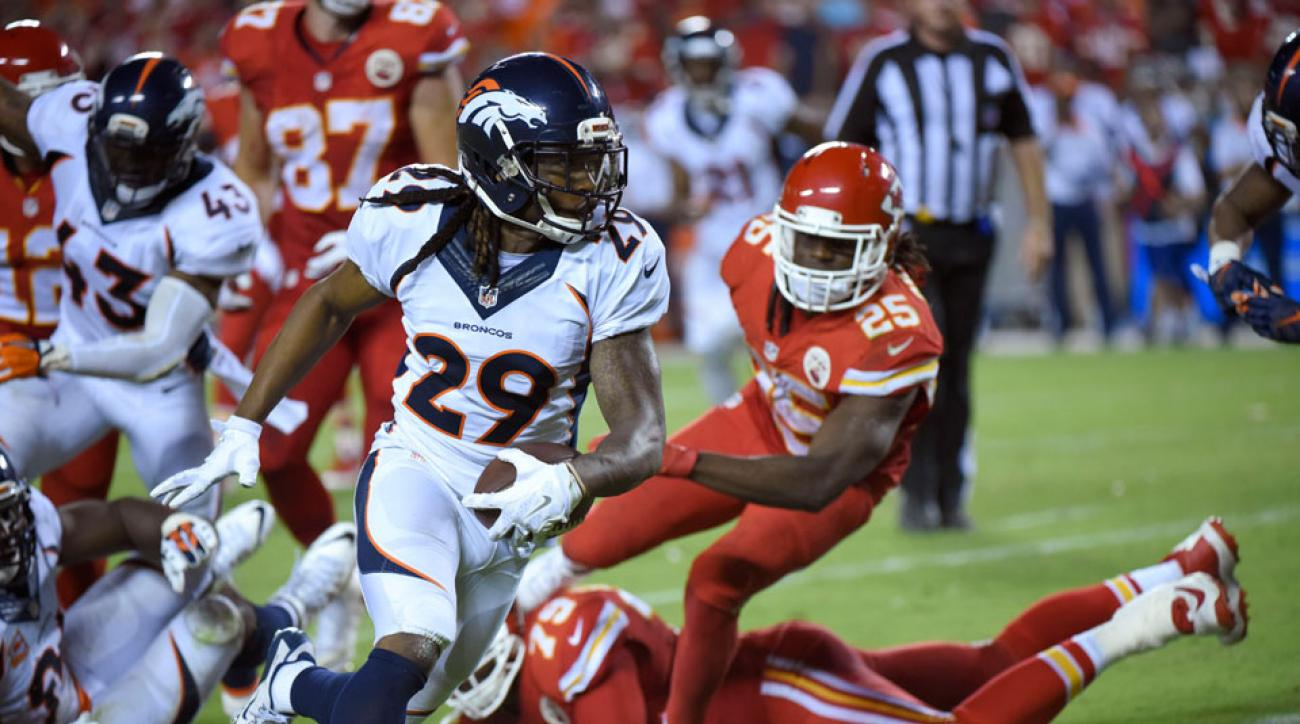 Video Denver Broncos Roby picks up fumble for game winning TD
