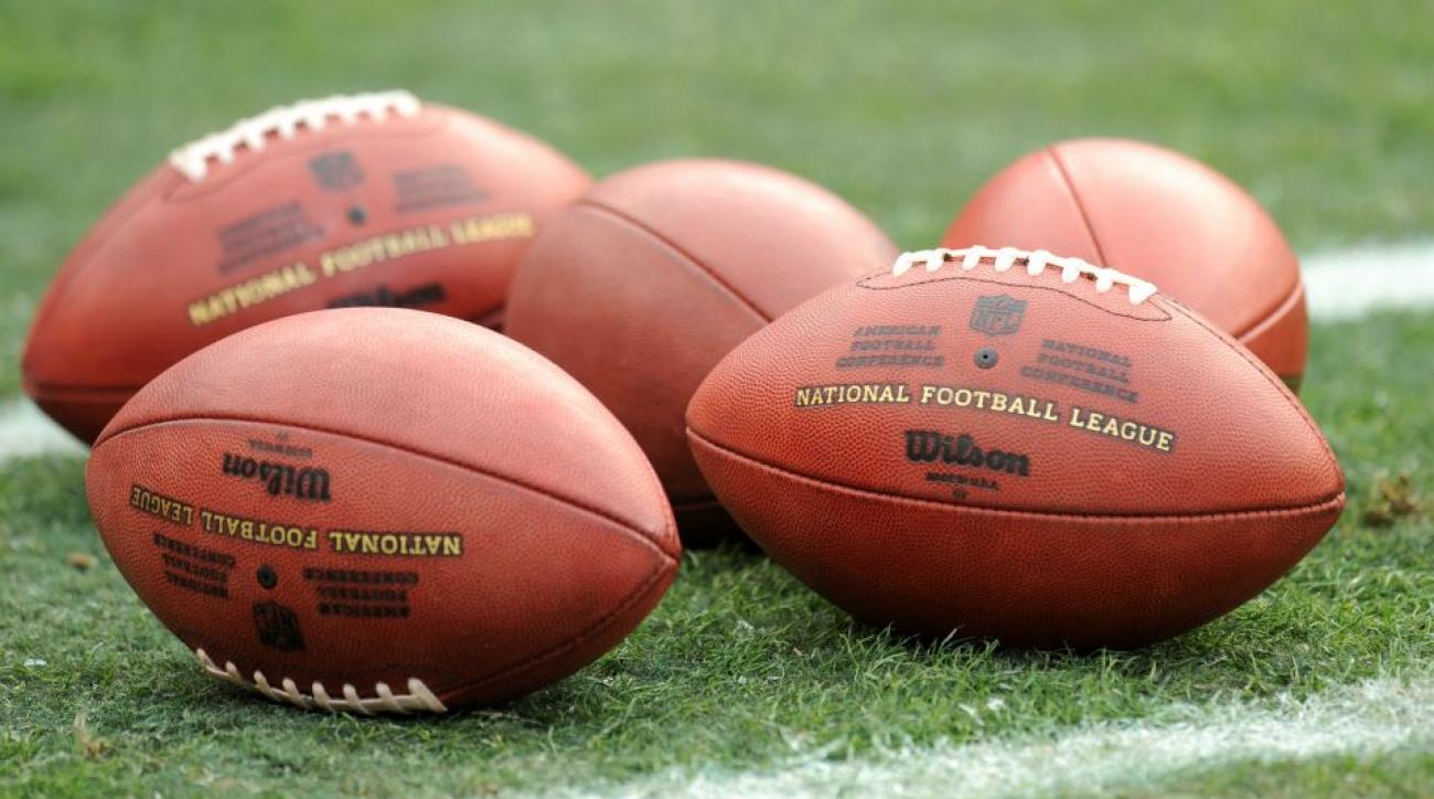 Buffalo Bills selling football pumps before Patriots game