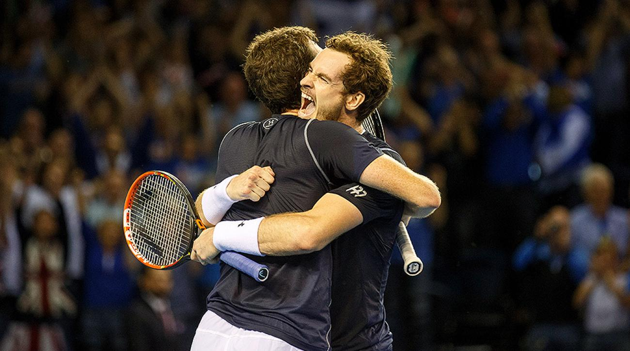 Andy Murray Jamie Murray Davis Cup