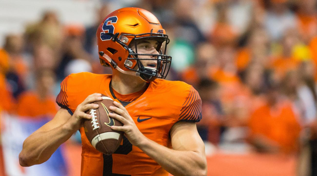 syracuse quarterback helmet to helmet video
